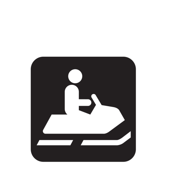 Snowmobile Trail Black PNG Clip art