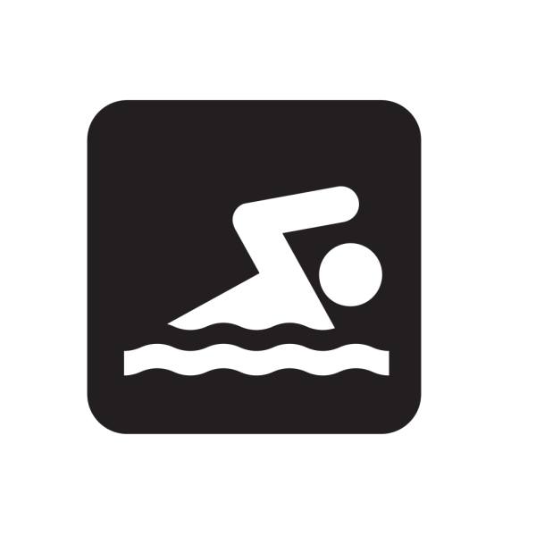 Swimming Black PNG Clip art