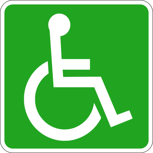 Wheelchair Accessible Black PNG Clip art