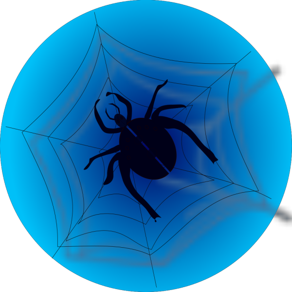 Spider On Web PNG Clip art