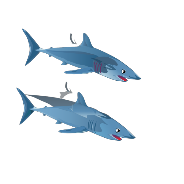Blue Shark PNG Clip art