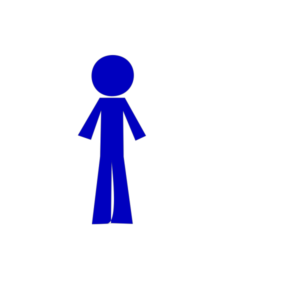 Personstickblue PNG Clip art