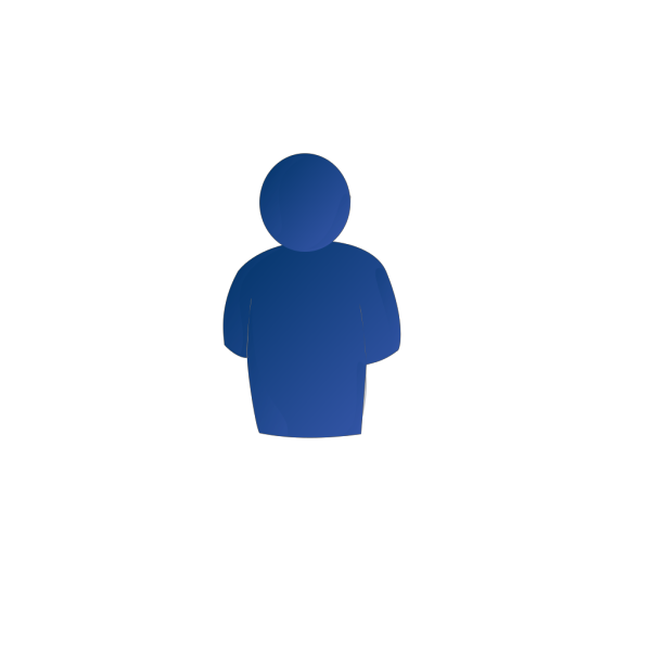 Blue Person No Shadow PNG Clip art
