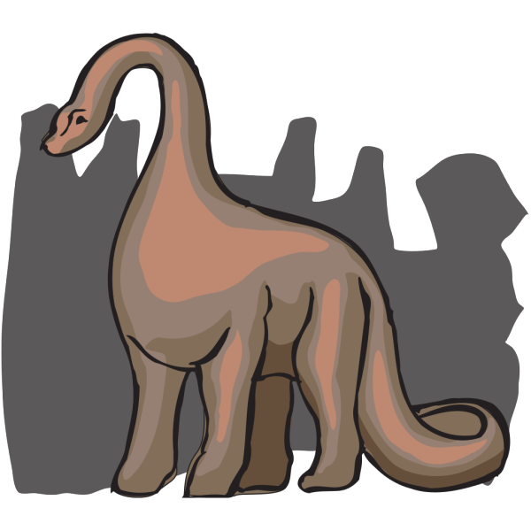 Brown Shaded Brachiosaurus PNG Clip art