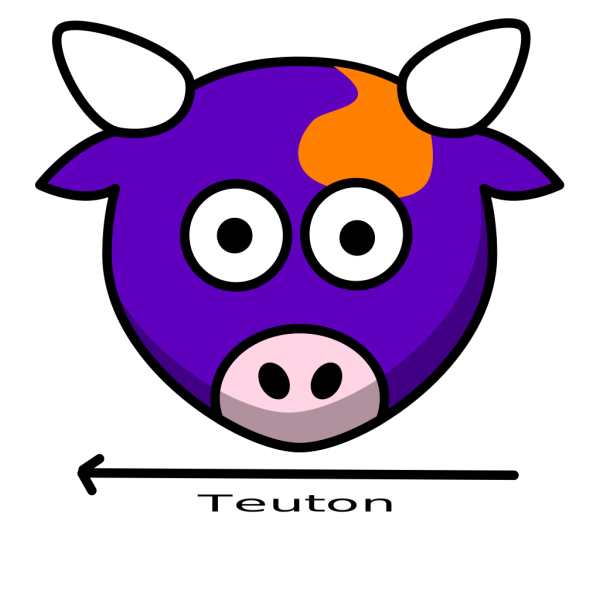 Curly Purple Bull PNG Clip art