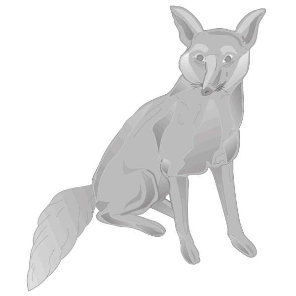 Gray Digital Fox