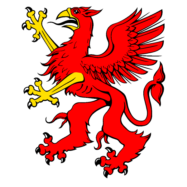 Red Griffin PNG Clip art