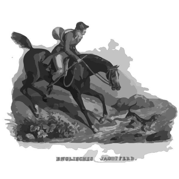 English Hunting Horse PNG image