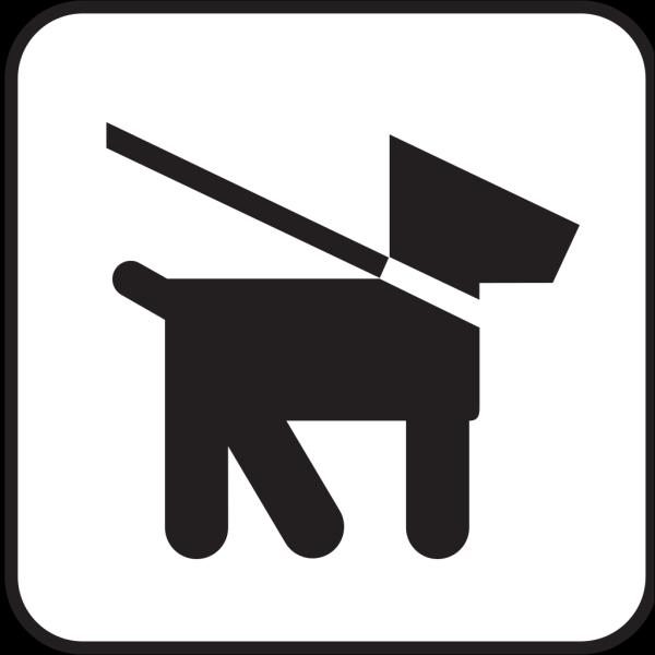 Dog On Leash PNG images