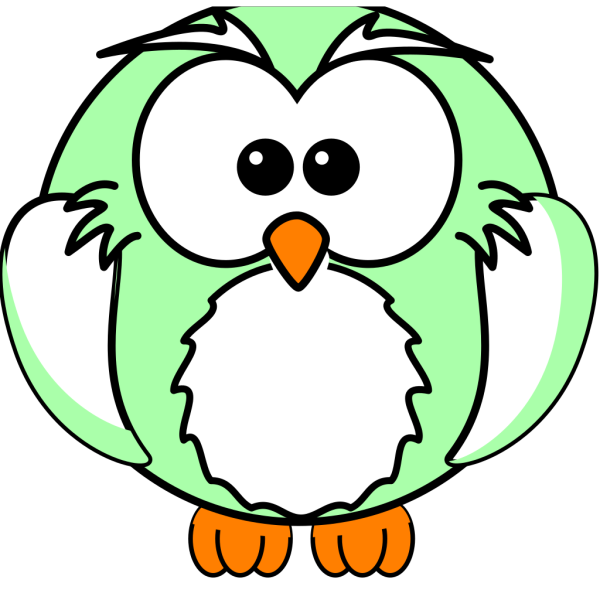 Green And White Owl PNG Clip art