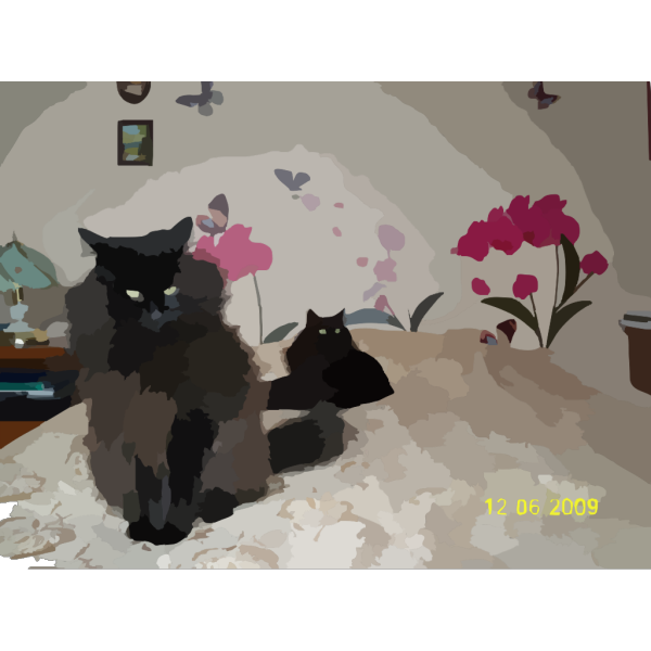 Sitting Black Cat PNG Clip art