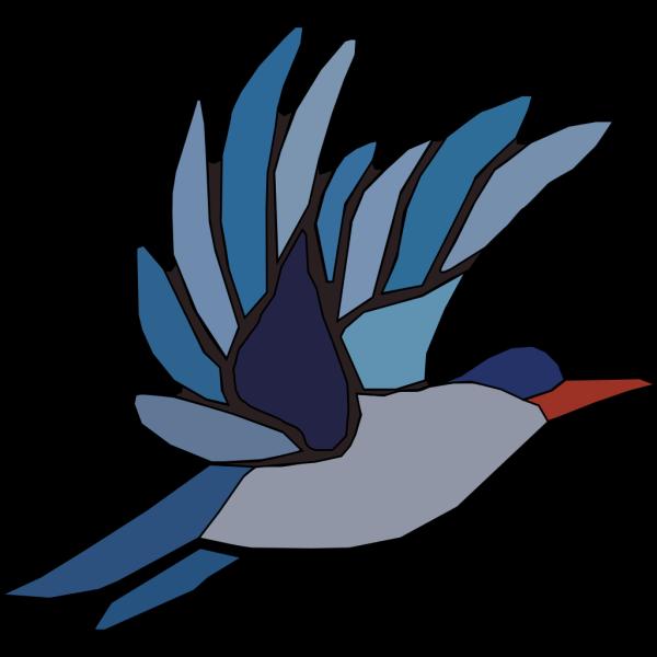 Blue Bird Taking Off PNG Clip art