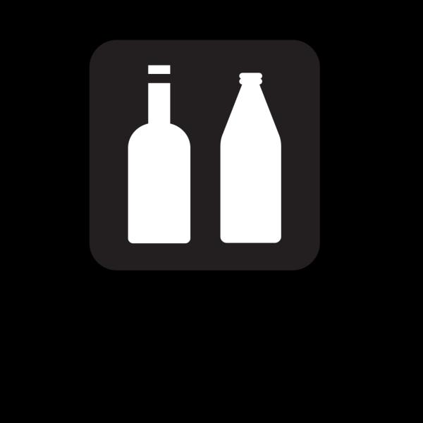 Bottles Black PNG Clip art