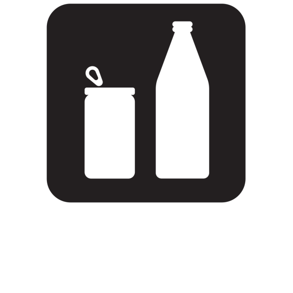 Cans Or Bottles Black PNG images