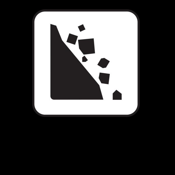 Falling Rocks Black PNG images
