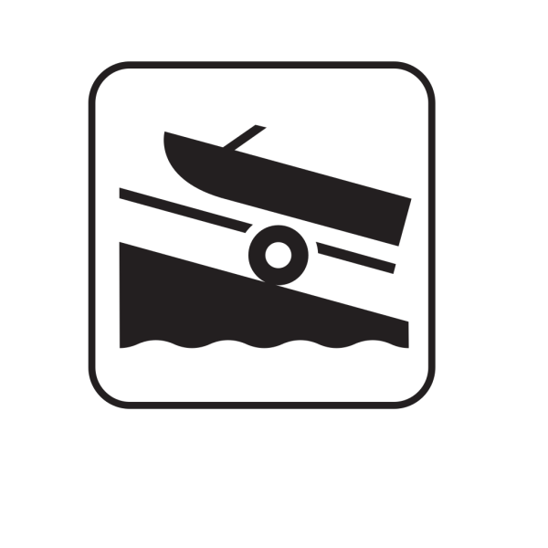 Hand Launch Small Boat Launch Black PNG images