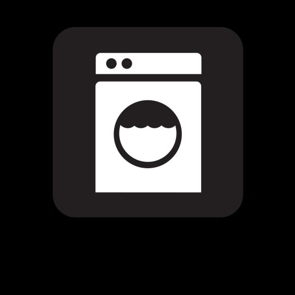 Laundry Laundomat Black PNG Clip art