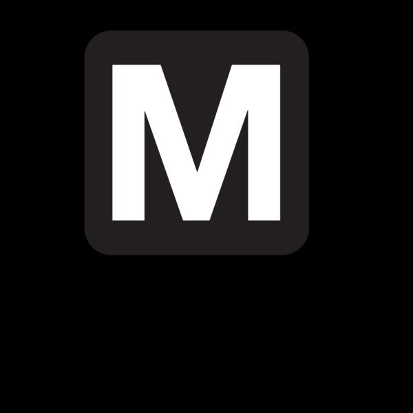 Metro Access Black PNG Clip art