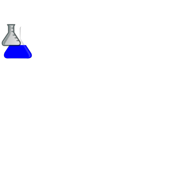 Blue Flask PNG images