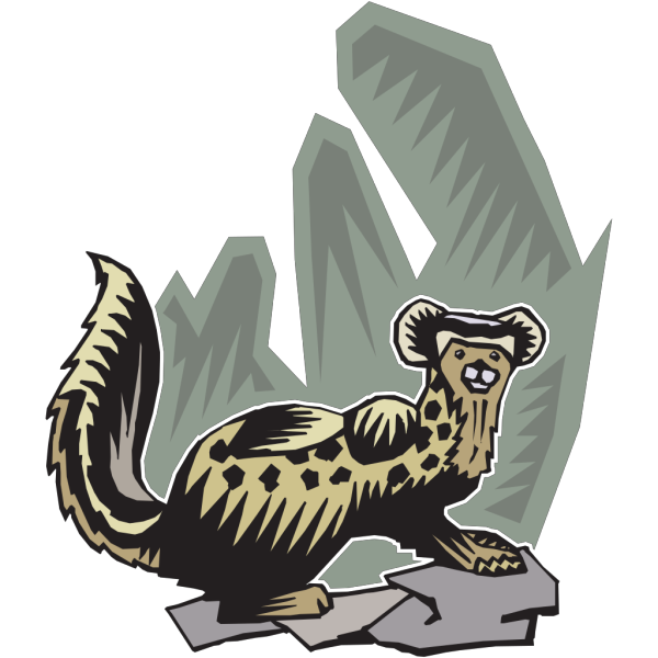 Stylized Ferret Art PNG Clip art