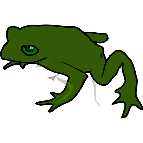 Simple Green Frog PNG Clip art