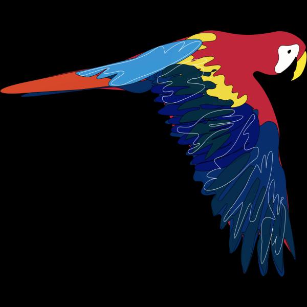 Flying Parrot PNG Clip art