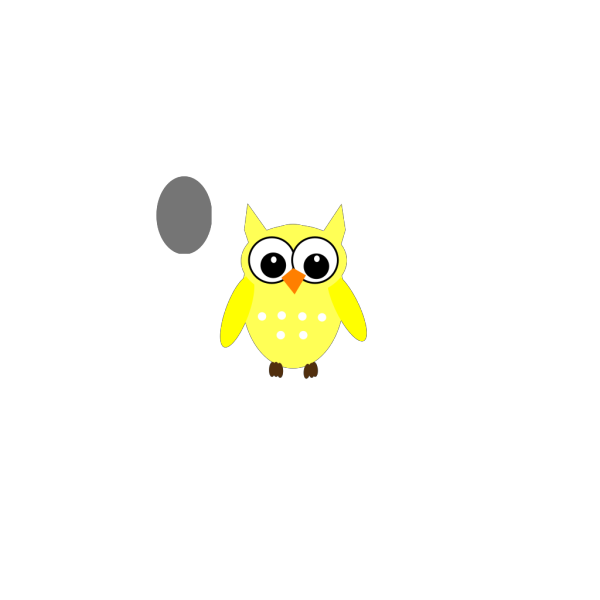 Cute Yellow Gray Owl PNG images