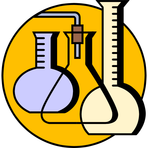 Chemical Lab Flasks PNG Clip art