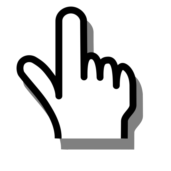 Pointing Finger PNG icons