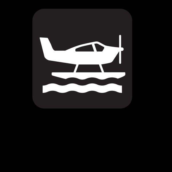 Sea Plane Black PNG Clip art