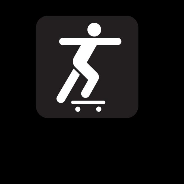 Skate Boarding Black PNG Clip art