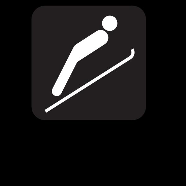 Ski Jump Black PNG Clip art