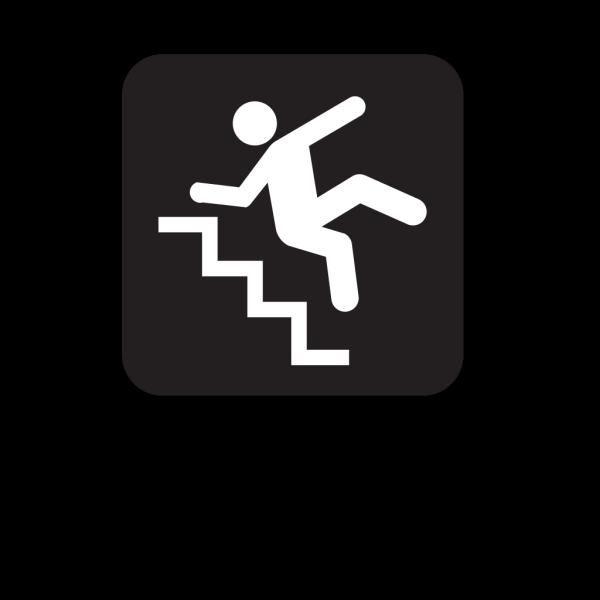 Slippery Steps Black PNG Clip art