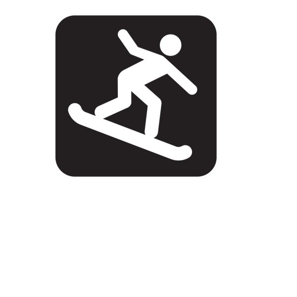 Snow Boarding Black PNG Clip art
