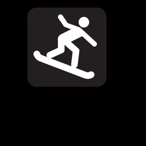 Snow Boarding Black PNG Clip art
