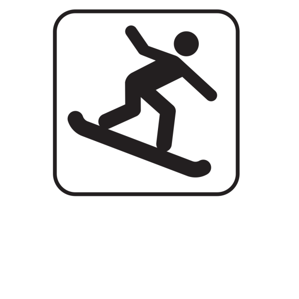 Snow Boarding White PNG Clip art