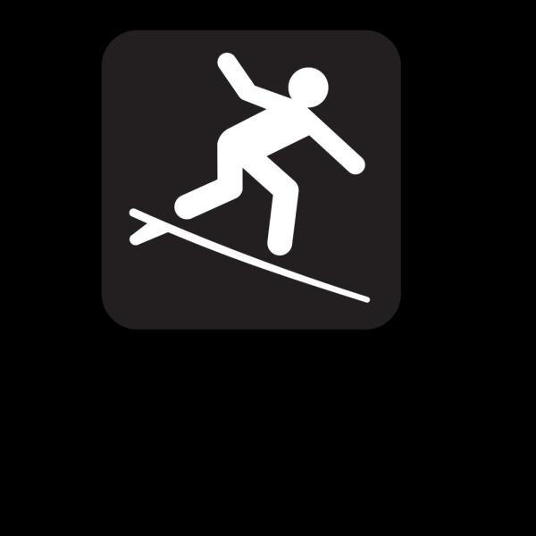 Surfing Black PNG Clip art