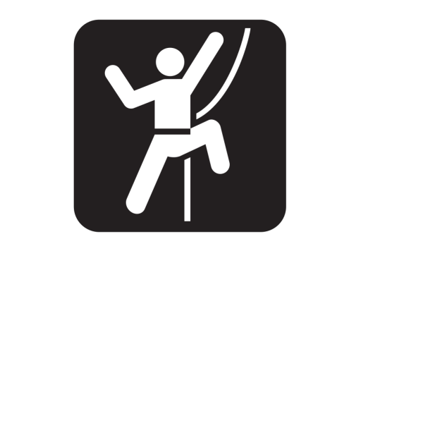 Technical Rock Climbing Black PNG Clip art