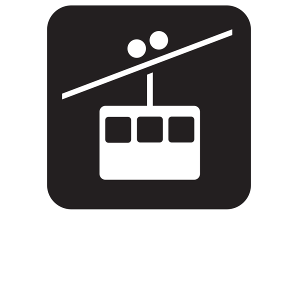 Tramway Tram Way Black PNG icons