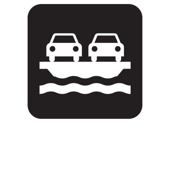 Vehicle Ferry Black PNG Clip art