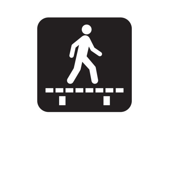Walk On Boardwalk Board Black PNG images