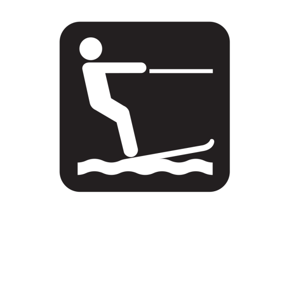 Water Skiing Black PNG Clip art