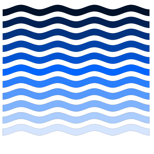 Simple Water Waves PNG Clip art