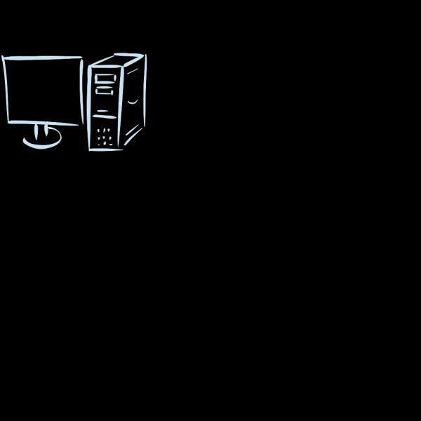 Monitor Cpu Blue PNG Clip art