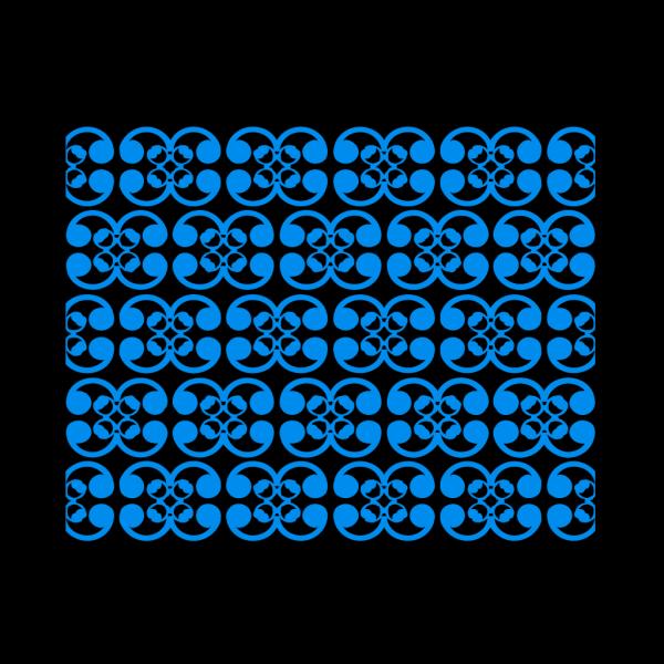Thai Blue Pattern PNG Clip art