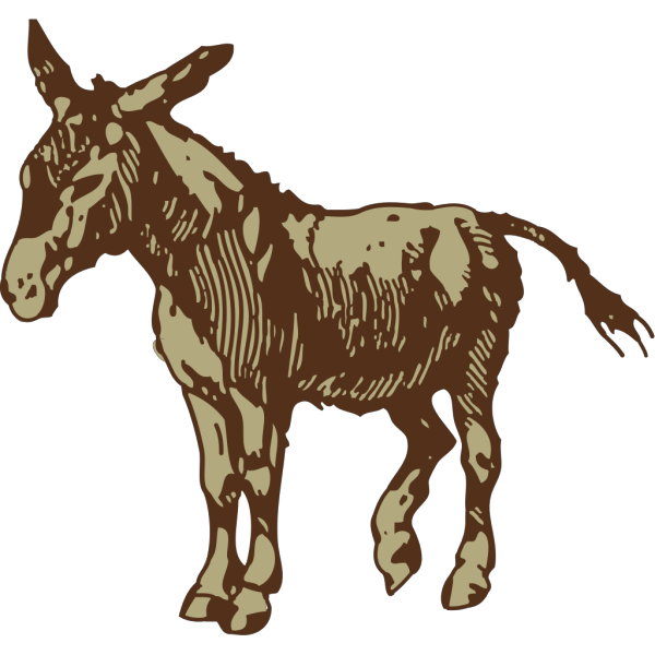 Brown Donkey PNG images