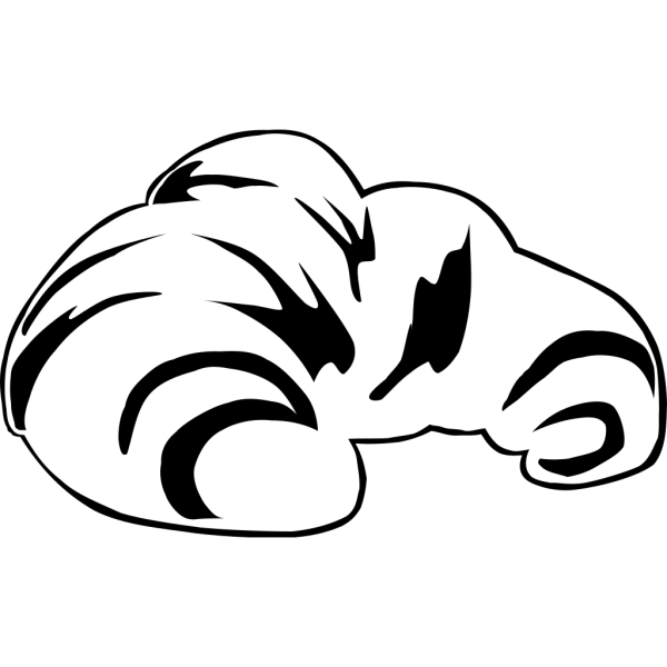 Croissant (b & W) PNG icon