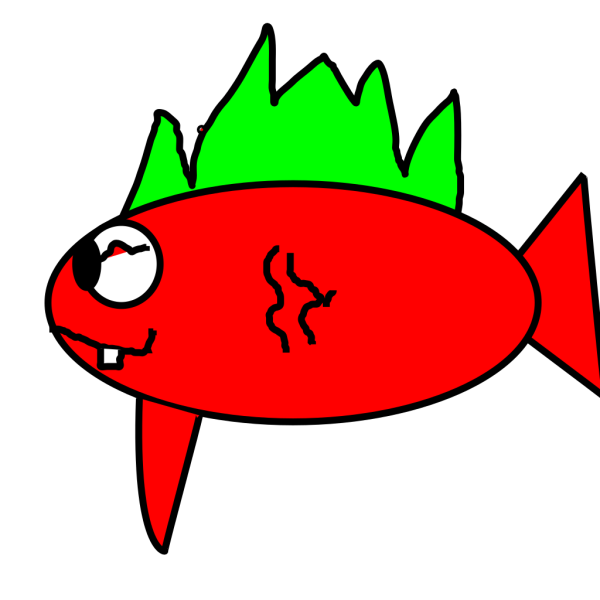 Bubbling Cartoon Fish PNG Clip art