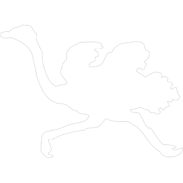 Running Ostrich Silhouette PNG images