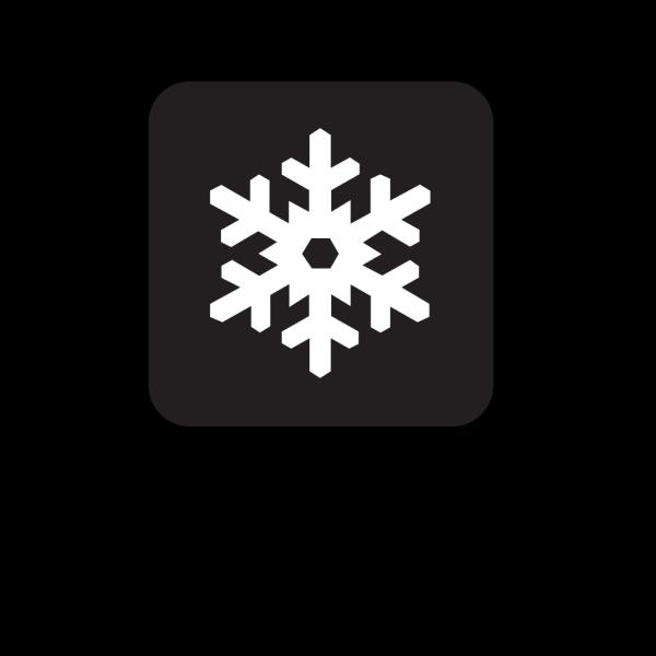 Winter Recreation Area Black PNG Clip art
